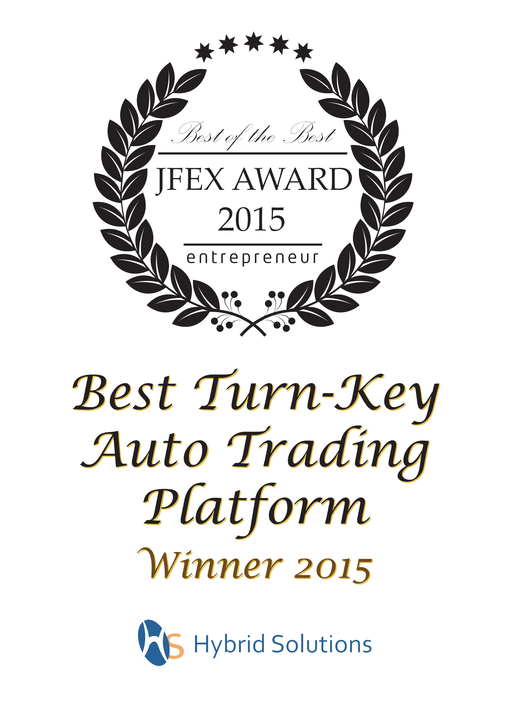 Best Turn-Key Auto Trading Platform Winner 2015